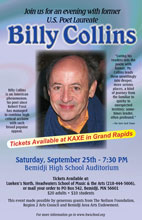 Billy Collins in Bemidji Minnesota
