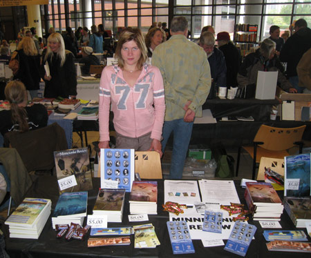 Rachel at the 2009 Twin Cities Book Festival